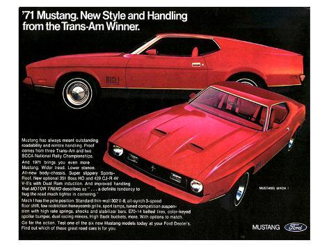 1971 Mustang - Trans-Am Winner Stampa artistica