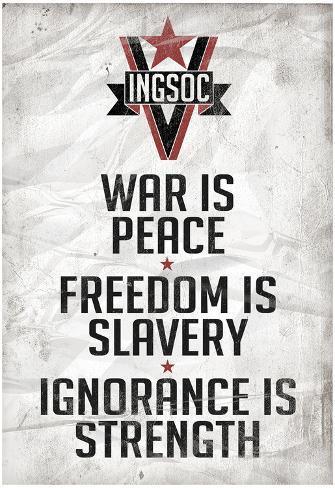 1984 INGSOC Big Brother Political Slogans Poster Poster
