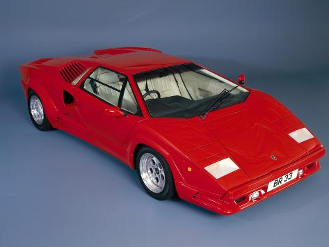 Superb 1988 Lamborghini Countach Impressão Fotográfica