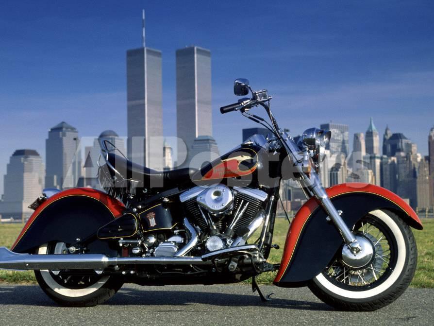 1990 Heritage Classic Harley Davidson, New York City, USA Lámina ...