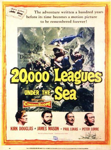 20.000 leguas de viaje submarino Lámina maestra