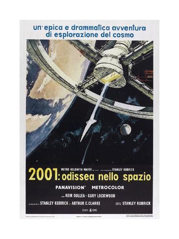2001: A Space Odyssey, (aka 2001: Odissea Nello Spazio), Italian poster,  1968 Art Print