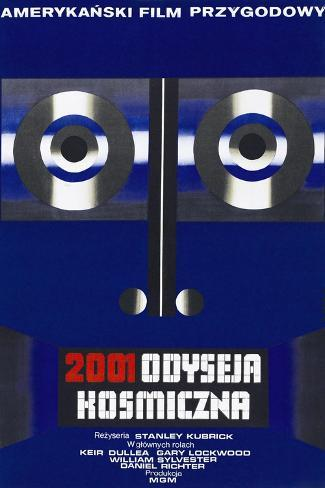 2001: A Space Odyssey, (aka 2001 Odyseja Kosmiczna), Polish poster, 1968 Art Print