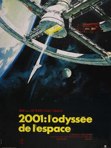 2001: A Space Odyssey, French Movie Poster, 1968 アートプリント