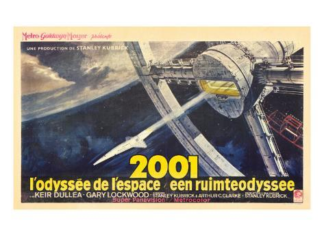 2001: A Space Odyssey, French Movie Poster, 1968 Impressão artística