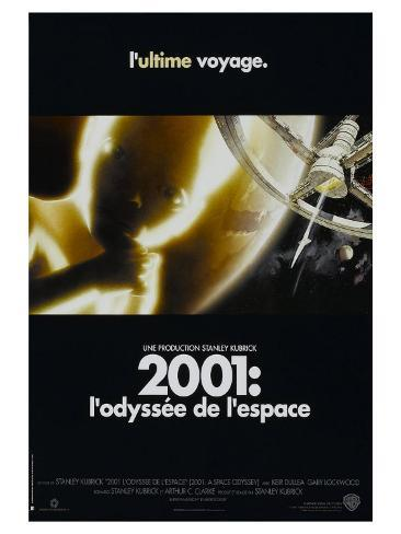 2001: A Space Odyssey, French Movie Poster, 1968 Art Print