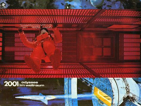 2001: A Space Odyssey, German Movie Poster, 1968 Stampa artistica