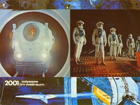 2001: A Space Odyssey, German Movie Poster, 1968 Stampa artistica