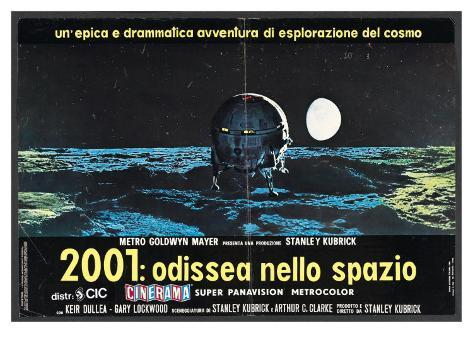 2001: A Space Odyssey, Italian Movie Poster, 1968 アートプリント