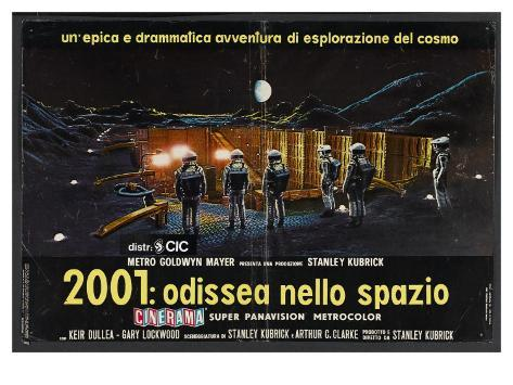 2001: A Space Odyssey, Italian Movie Poster, 1968 Art Print