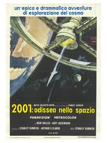 2001: A Space Odyssey, Italian Movie Poster, 1968 Premium Giclee Print