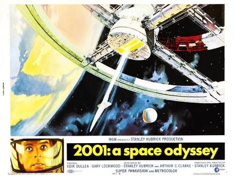 2001: A Space Odyssey, US lobbycard, Keir Dullea, 1968 Art Print