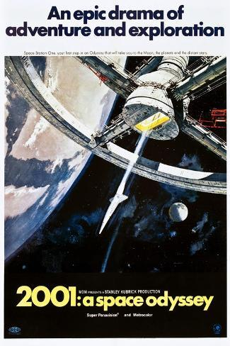 2001: A Space Odyssey, US poster, 1970 Art Print