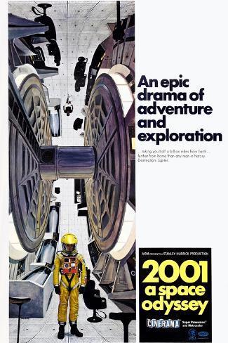 2001: A Space Odyssey, US poster, 1971 Impressão artística