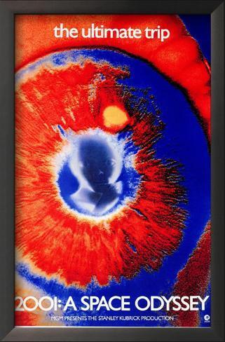 2001 - A Space Odyssey Impressão artística emoldurada