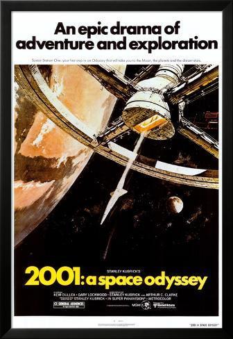 2001: Una odisea del espacio Póster enmarcado con plástico protector