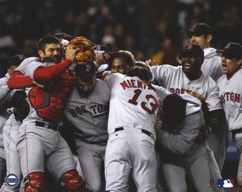 2004 Boston Red Sox ALCS Celebration Photo