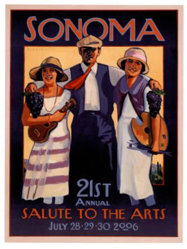 2006 Sonoma Salute to the Arts Art Print Poster Poster