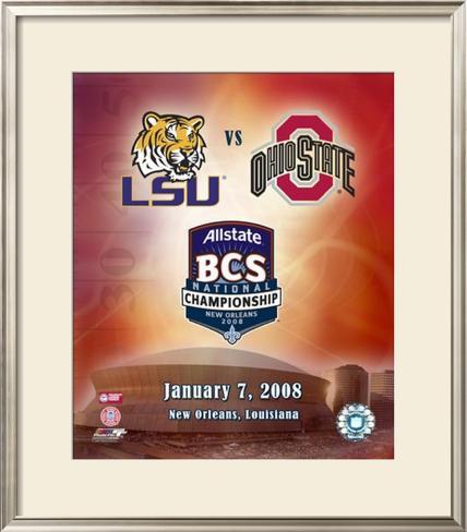 2007 BCS Championship Framed Photographic Print