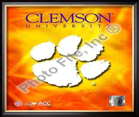 2008 Clemson University Team Logo Framed Photographic Print