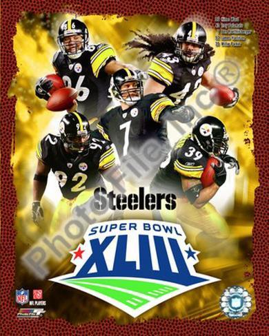 2008 Pittsburgh Steelers Superbowl Big 5 Framed Photographic Print