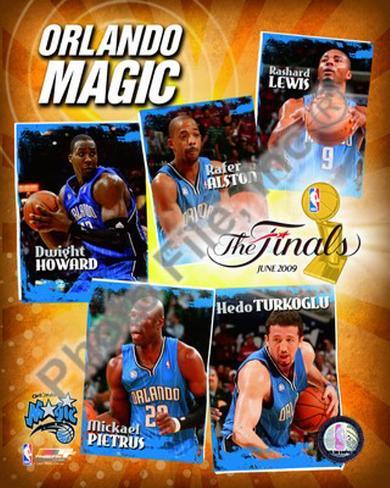 "2009 Finals - Magic ""Big 5"" Framed Photographic Print at ..."