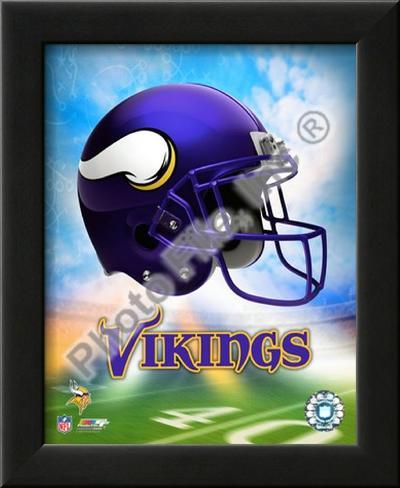 2009 Minnesota Vikings Lamina Framed Art Print