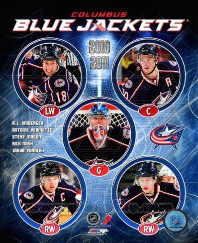 2010-11 Columbus Blue Jackets Team Composite Framed Photographic Print