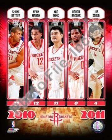 2010-11 Houston Rockets Team Composite Photo at AllPosters.com