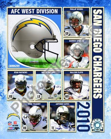 2010 San Diego Chargers Team Composite Photo