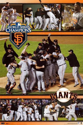 2010 World Series Champs - San Francisco Giants Poster