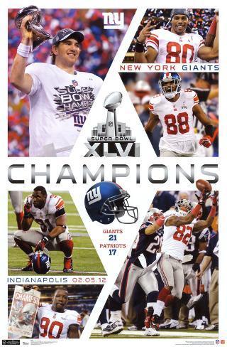 2012 Super Bowl - Celebration Poster