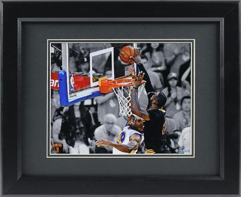 2016 NBA Champion Cleveland Cavaliers Lebron James Block Framed ...