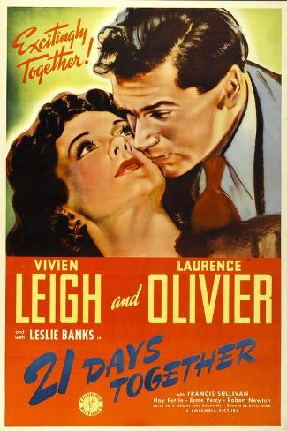 21 Days Together (Aka 21 Days), Vivien Leigh, Laurence Olivier, 1940 Stretched Canvas Print