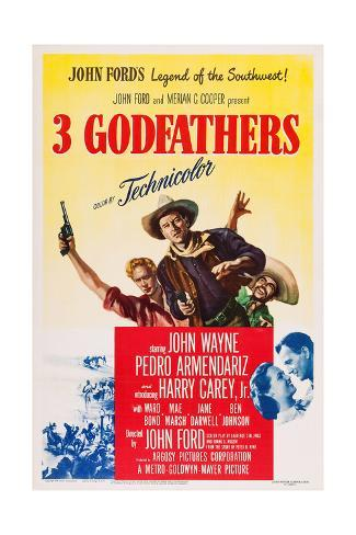 3 Godfathers Giclee Print