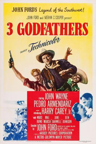 3 Godfathers Poster