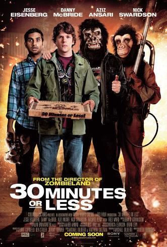 30 Minutes or Less Double-sided poster