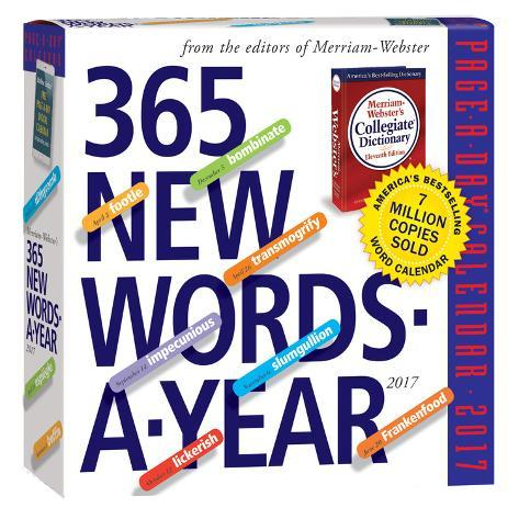 365 New Words-A-Year Page-A-Day - 2017 Boxed Calendar Calendários