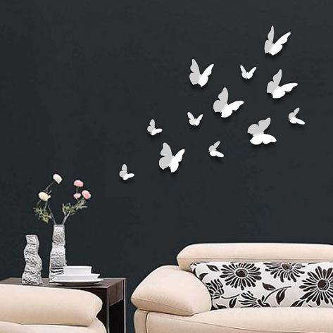 3D Butterflies - White Adesivo de parede