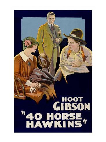 40 Horse Hawkins Art Print