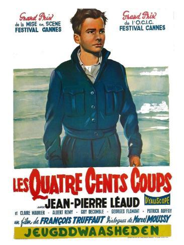 400 Blows, Belgian Movie Poster, 1959 Art Print