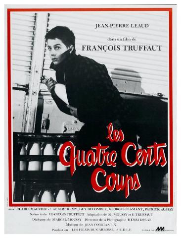 400 Blows, French Movie Poster, 1959 Art Print