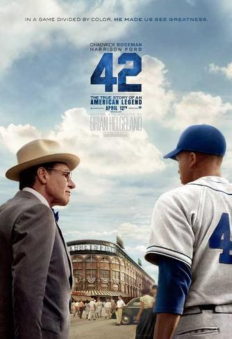 42 (Chadwick Boseman, T.R. Knight, Harrison Ford) Movie Poster Poster