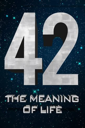 42 The Meaning of Life Poster