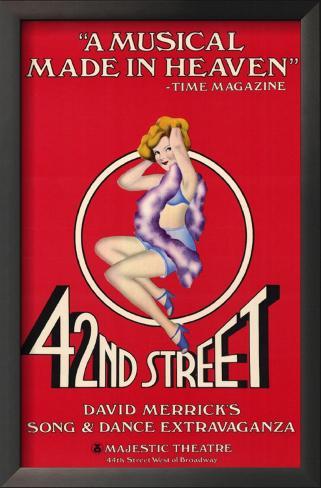 42nd Street Impressão artística emoldurada