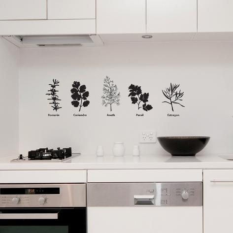 5 Spices-Medium-Black Wall Decal