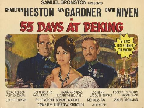 55 Days at Peking, 1963 Konstprint