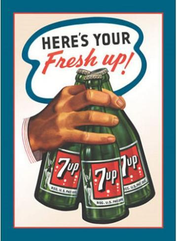 7Up Seven Up Soda Here's Your Fresh Up Tin Sign