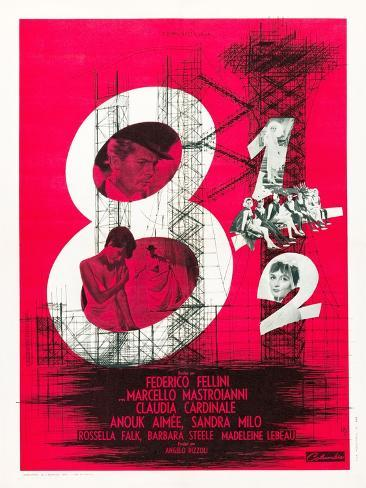 8 1/2 (aka Eight and a Half) Art Print