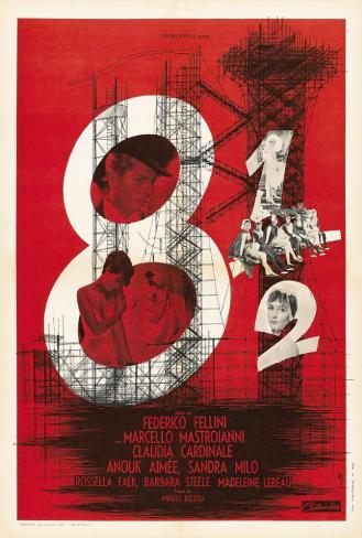 8 1/2 - French Style Poster